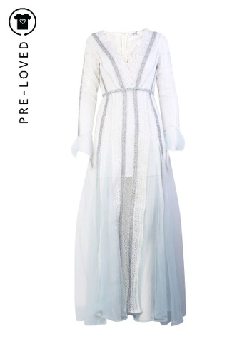 Asilio white Pre-Loved asilio Lace Long Gown F492AAAA5F43AEGS_1