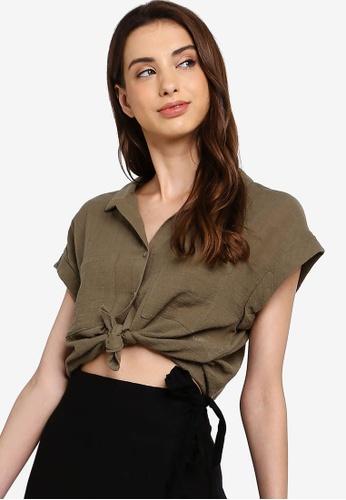 Cotton On 多色 Emily Chopped 短袖襯衫 5F1D6AA8A767BCGS_1