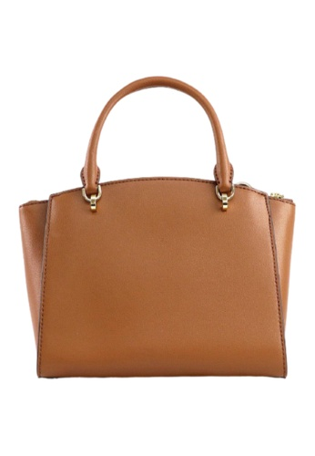 Michael Kors brown Michael Kors Large Ellis 38T9CE0S3L Convertible Satchel Bag In Luggage 9CF48AC3FEADD0GS_1