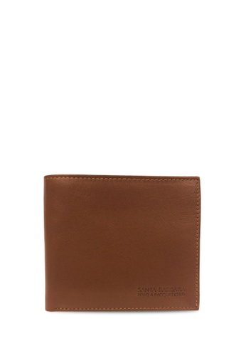 Santa Barbara Polo & Racquet Club brown Santa Barbara Polo & Racquet Club Leather Bifold Wallet SA678AC0H8ZLSG_1