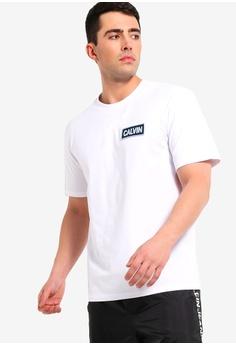 21002e6de541d3 Calvin Klein white Calvin Chest Box Embroidery Tee - Calvin Klein Jeans  9FB13AAEDB9959GS 1