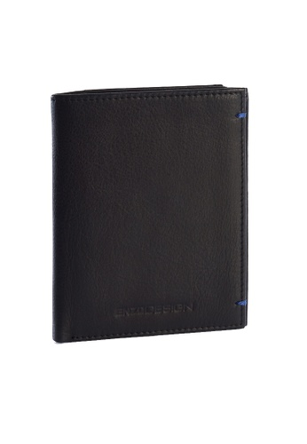ENZODESIGN black Ultra Soft Cow Leather Slim Vertical Wallet With Zip Coin Compartment EN115AC89ZSWPH_1
