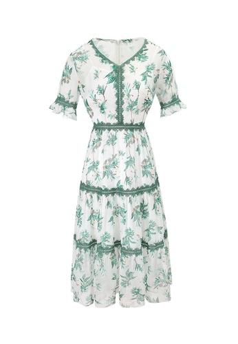 HAPPY FRIDAYS Temperament Printed Chiffon Dress 63251 05340AA9BFE17EGS_1