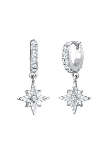 ELLI GERMANY silver Elli Germany Earrings Creole Swarovski Crystals Astro Star 925 Sterling Silver C4A83ACCD27EF1GS_1