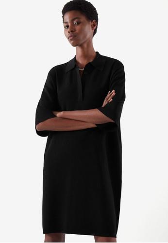 COS black Oversized Polo Dress C0B90AA5287225GS_1