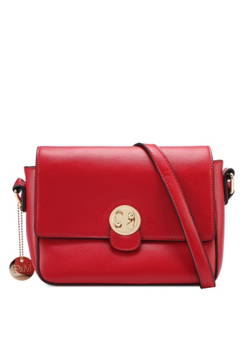 Perllini&Mel red Faux Leather Sling Bag PE444AC0SJ0IMY_1
