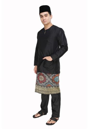 Amar Amran black Baju Melayu Teluk Belanga C7E09AA8612F30GS_1