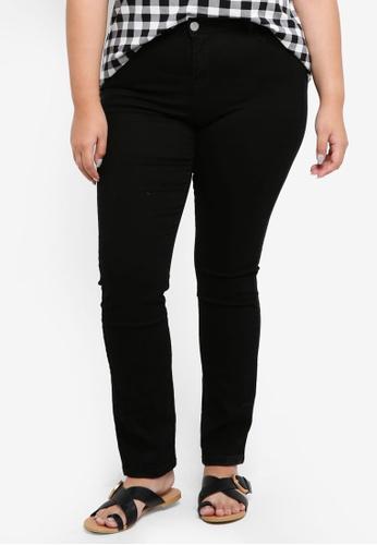 Dorothy Perkins black R: Black Ashley Straight Jeans 939D9AA06DDFAFGS_1
