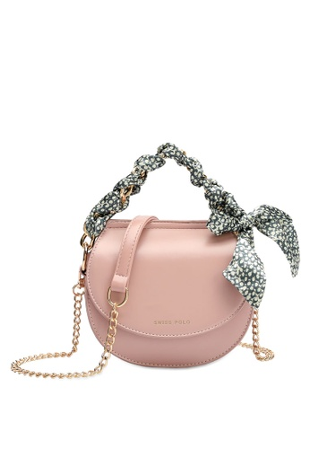 Swiss Polo pink Swiss Polo Ladies Chain Sling Bag 3FC2FACA5B74ABGS_1