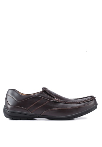 Rocklander brown Matarazo Faux Leather Loafers A0FDCSH88A49D7GS_1