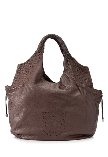 Salvatore Ferragamo brown Pre-Owned Salvatore Ferragamo Intrecciato Hobo Bag D0047AC1C786F0GS_1