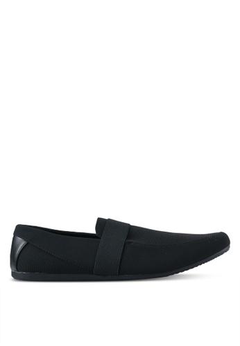 UniqTee black Classic Textile Loafers UN097SH0SYS0MY_1