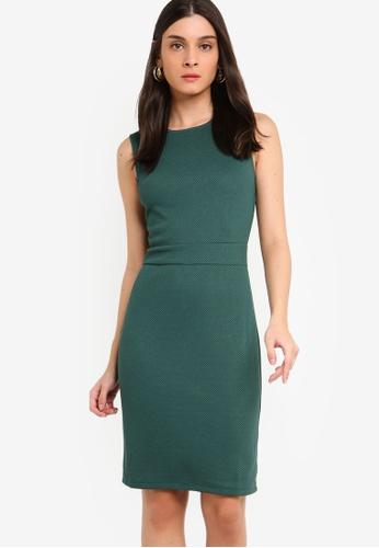ZALORA green Sleeveless Sheath Dress 608E3AACB99A52GS_1