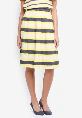 ESPRIT yellow Light Woven Midi Skirt 05F4EAA9D6CBB8GS_1