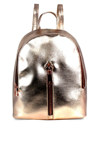 London Rag pink Womens Rose Gold Backpack AA725AC958AB60GS_1