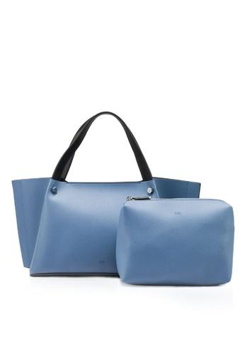 nose blue Two Tone Shoulder Bag 38C0AAC77243D3GS_1