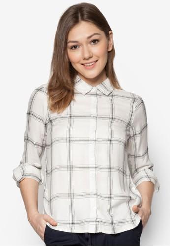 Petite 格紋長袖襯衫, 服飾,zalora 評價 服飾
