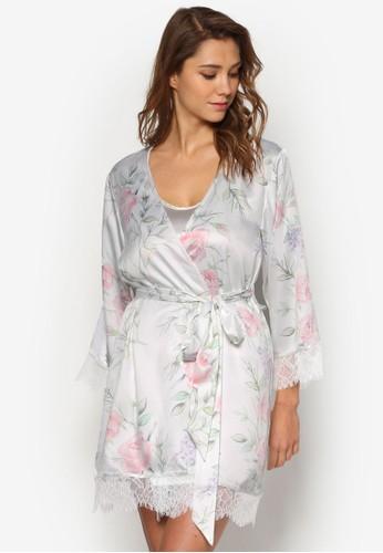 Sesprit 京站ophia 蕾絲邊飾睡袍, 服飾, 睡袍