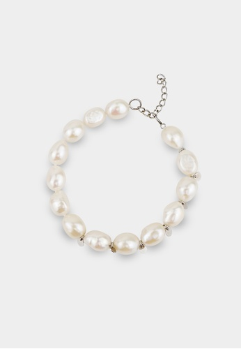 monojewelry LUNA PEARL BRACELET (SILVER) CAA8CACBBBCE2DGS_1