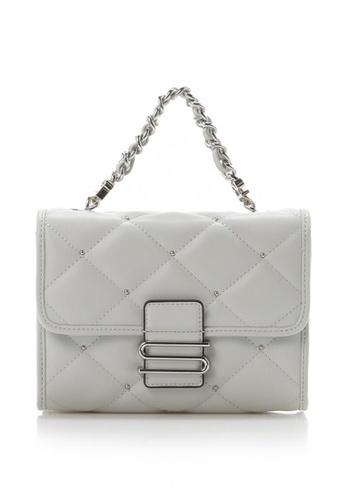 "Samantha Thavasa grey Samantha Thavasa ""S"" Series Quilted Mini Bag 2E44BAC1E71555GS_1"