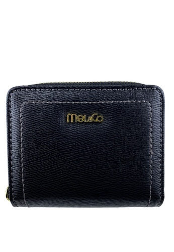 Mel&Co black Faux Leather Mid-Size Wallet B24A0ACC520839GS_1