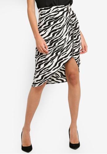 Vesper black and white Vesper Auburn Mini Skirt With Pleat Detail 56890AAAC8EEB8GS_1