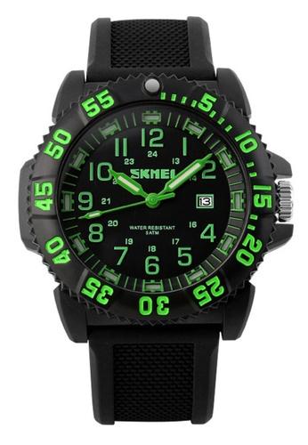 Skmei green SKMEI 1078 Men's Noctilucent Calendar Sports Watch (Green) SK707AC0RXD6MY_1