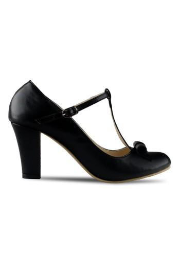Claymore sepatu high heels B 709T - Black