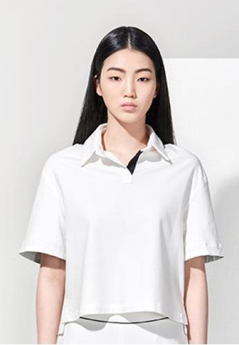 EJnolee white Ivory Polo Shirt EJ188AA0FIG6SG_1