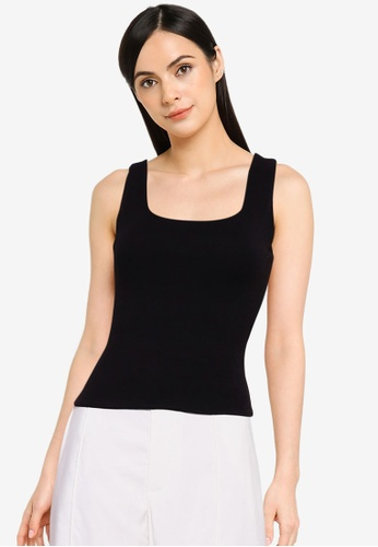 Cotton On black Indigo Square Neck Tank Top 95571AA4EE9C18GS_1