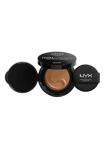 NYX Professional Makeup beige NYX Professional Makeup Total Control Mesh Cushion Foundation - HONEY 7E708BEF960B5AGS_1