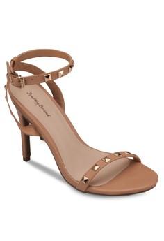 Studded Skinny Strap Sandal Heels