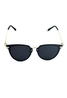 ce4bbf6ade 2i s to eyes black Sunglasses Polarized│Vintage Round Black Frame│UV400  Protection│2is