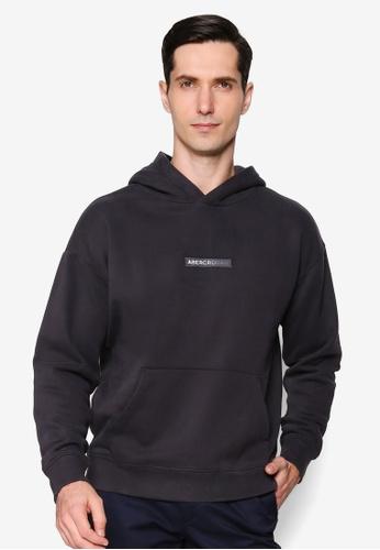Abercrombie & Fitch black Box Logo Hooded Sweatshirt 17E88AA10B7A3EGS_1