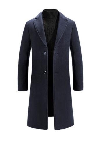 Twenty Eight Shoes navy VANSA Fashion Thick Cashmere Coat VCM-C8711 D93C9AA99E2DB3GS_1