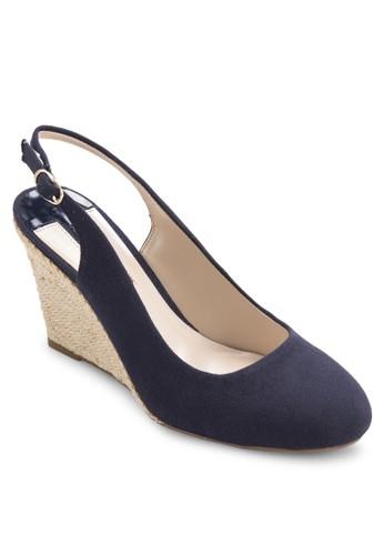 esprit手錶專櫃'Clara' 繞踝麻編楔形鞋, 女鞋, 鞋