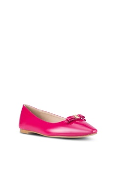 bd2d219a3b2 Velvet Square Toe Ballet Flats S  28.90. Available in several sizes. Velvet  pink Faux Patent Leather Flats 51A82SH0D6E2C5GS 1