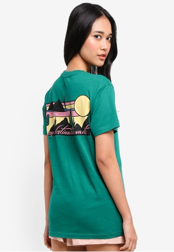 TOPSHOP green Wanderlust' Cactus T-Shirt 1191BAA5C63828GS_1