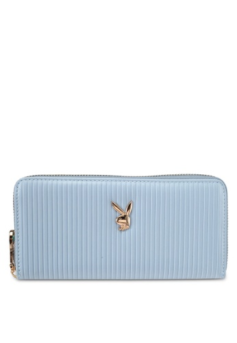 PLAYBOY BUNNY blue Playboy Bunny Long Purse PL604AC0SKNHMY_1