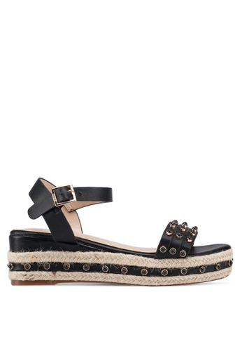 86a5490354b Buy Nose Round Studded Espadrille Wedge Sandals Online on ZALORA Singapore