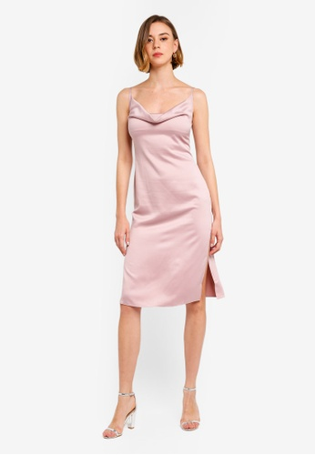 7db081904fbd Buy MISSGUIDED Satin Cowl Cami Midi Dress Online on ZALORA Singapore