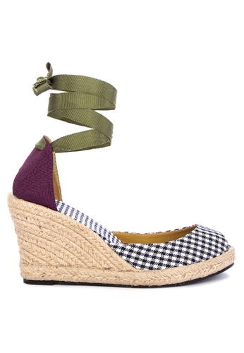 Daily Schedule New York multi Checkered Wedge Sandals C3D10SH0FAEDE6GS_1