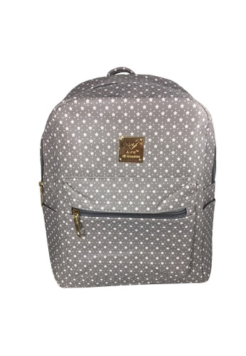 TCWK grey TCWK Women Grey Dot Backpack 7200EAC92531A7GS_1