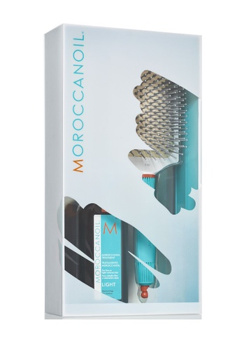 MOROCCANOIL GREAT HAIR DAY SET  -MOROCCAN OIL TREATMENT LIGHT + PADDLE BRUSH (LIMITED EDITION) B726FBEED42B8BGS_1
