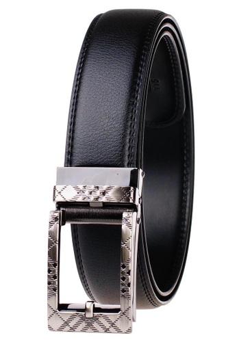 FANYU black Leather Dress Belt With Automatic Buckle belt 6D183AC5A10097GS_1