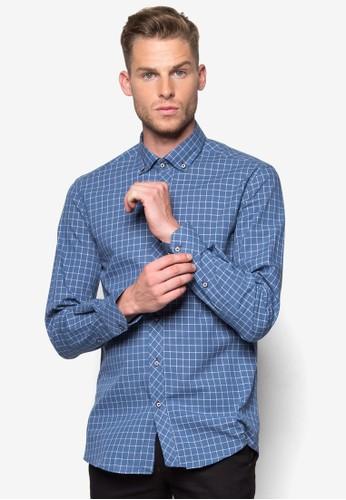 格紋長袖襯衫, 服飾, esprit 台中襯衫