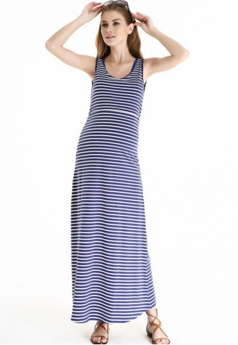 Bove by Spring Maternity navy Knitted Sleeveless Alyssa Maxi Dress Stripes LDN1502 SP010AA33RXYSG_1