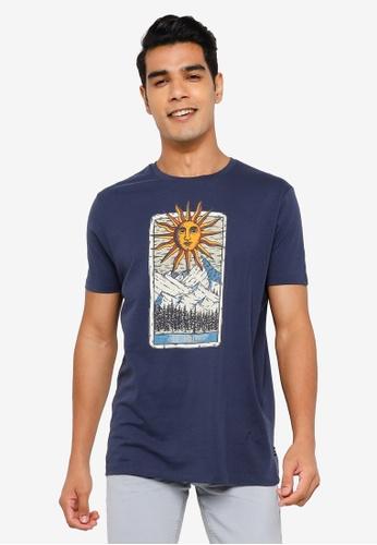 Springfield blue Cropped T-Shirt 5FECBAAFBFE312GS_1
