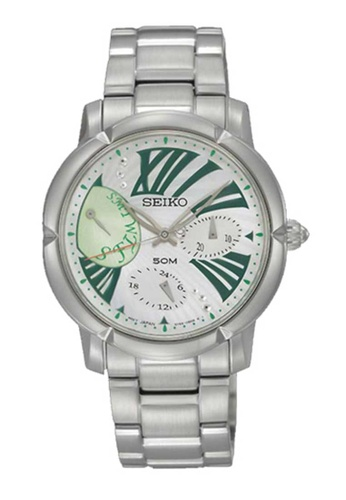 Seiko silver Seiko Criteria Green and Silver Stainless Steel Watch 49C15ACF7BC712GS_1