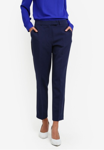 Dorothy Perkins navy Navy Poly Short Length Trousers DO816AA0S0ACMY_1